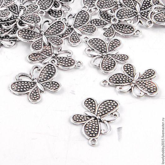 Фурнитура, подвеска из металла Бабочка