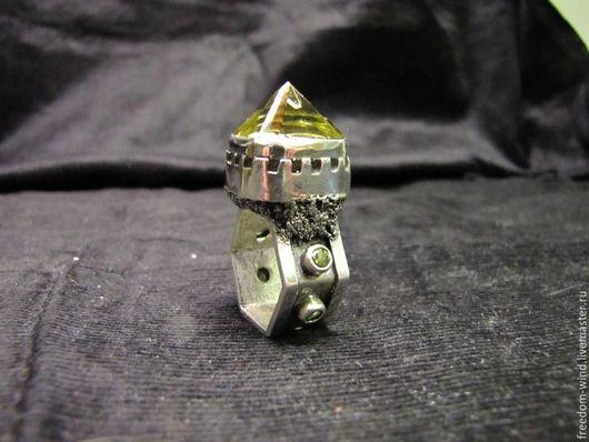 """Кольца ручной работы. Ярмарка Мастеров - ручная работа. Купить Стильное кольцо """" Замок Волшебника"""". Handmade. Кольцо с цитрином"""
