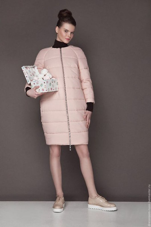 Верхняя одежда ручной работы. Ярмарка Мастеров - ручная работа. Купить Пальто - баллон нежно розовое. Handmade. Бледно-розовый