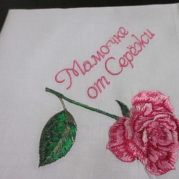 Аксессуары ручной работы. Ярмарка Мастеров - ручная работа Носовые платочки с вышивкой женские с цветами. Handmade.