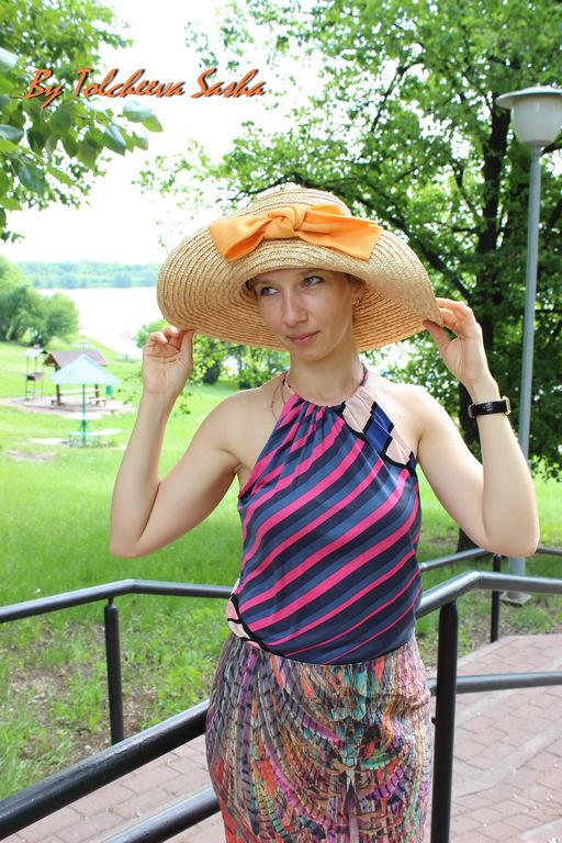 Шляпы ручной работы. Ярмарка Мастеров - ручная работа. Купить Рыжик. Шляпа для лета.. Handmade. Оранжевый, солома, на жару, хлопок