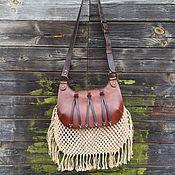 Сувениры и подарки handmade. Livemaster - original item Hunting bag made of leather, a jagdtash mod.AU. Handmade.