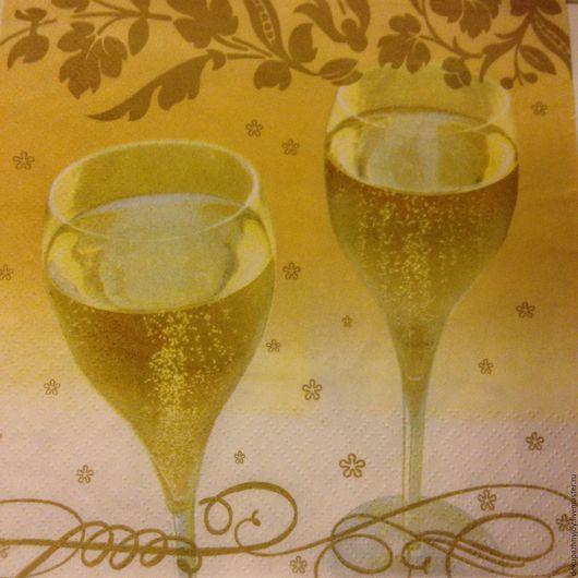 Салфетка для декупажа - Новый год - Брызги шампанского Декупажная радость