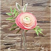 """Цветы и флористика ручной работы. Ярмарка Мастеров - ручная работа Мини - букетики """"Ранункулюс"""". Handmade."""