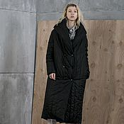 Одежда handmade. Livemaster - original item Women`s insulated coat with a hood Bright Black. Handmade.