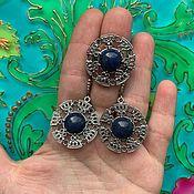 Украшения handmade. Livemaster - original item @ Earrings and ring with natural stones. RUSSIA. Handmade.