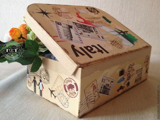 Персональные подарки ручной работы. Ярмарка Мастеров - ручная работа. Купить Путешествующий чемоданчик« EGOISTE». Handmade. Чемоданчик, Декор, италия