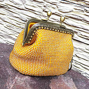 Сумки и аксессуары handmade. Livemaster - original item Cosmetic bag, handbag,purse , coin beaded