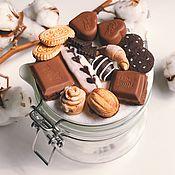 Банки ручной работы. Ярмарка Мастеров - ручная работа Вкусная банка  с декором выпечка и шоколадки из полимерной глины. Handmade.
