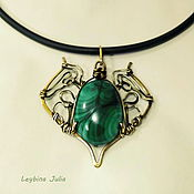 Украшения handmade. Livemaster - original item Pendant malachite natural