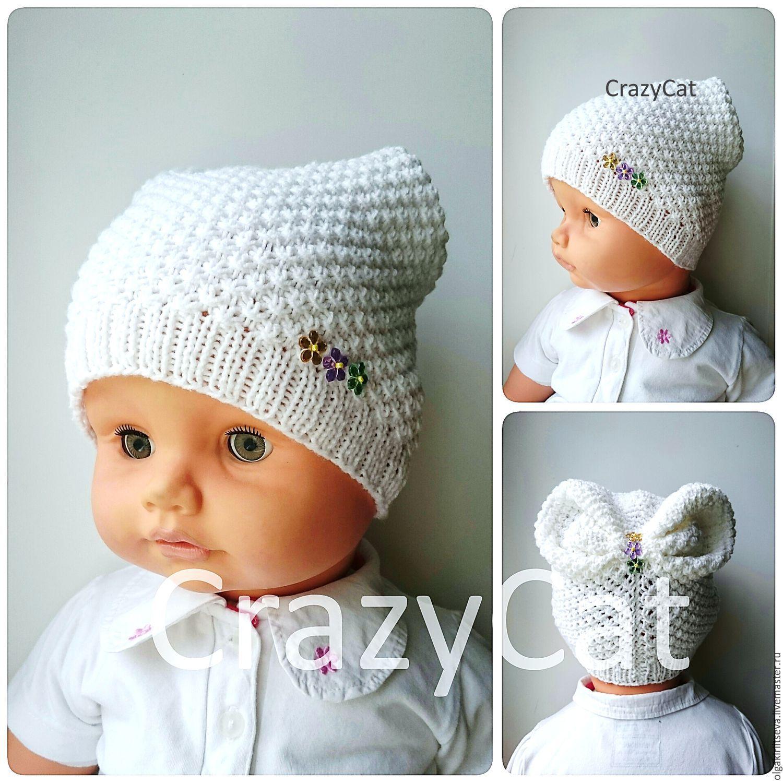 Вязание для новорожденных шапочки для девочек