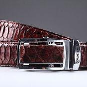 Аксессуары handmade. Livemaster - original item Python leather belt, artistic patina IMP3001H. Handmade.