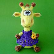 Куклы и игрушки ручной работы. Ярмарка Мастеров - ручная работа Жирафик в платьице. Handmade.