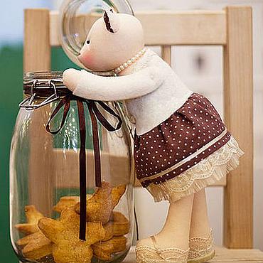 """Куклы и игрушки ручной работы. Ярмарка Мастеров - ручная работа Кошка """"Молочный шоколад"""". Handmade."""