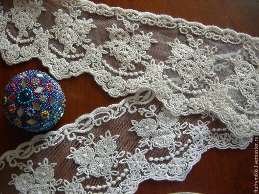 Кружевное шитье на сетке