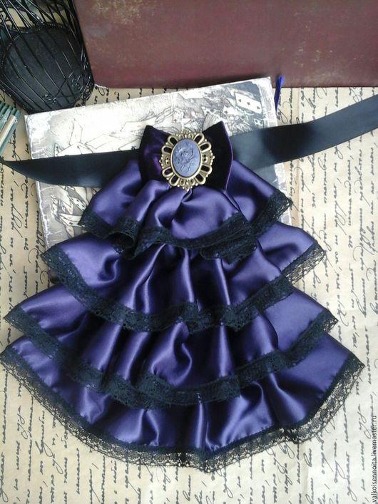 """Воротнички ручной работы. Ярмарка Мастеров - ручная работа. Купить Жабо """" Dark violet"""". Handmade. Жабо, жабо кружевное"""