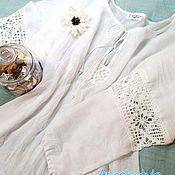 Одежда ручной работы. Ярмарка Мастеров - ручная работа Белая блузка. Прованс.. Handmade.