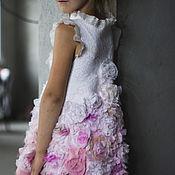 """Работы для детей, ручной работы. Ярмарка Мастеров - ручная работа Валяное платье для девочки """"Розовый винтаж 2"""". Handmade."""
