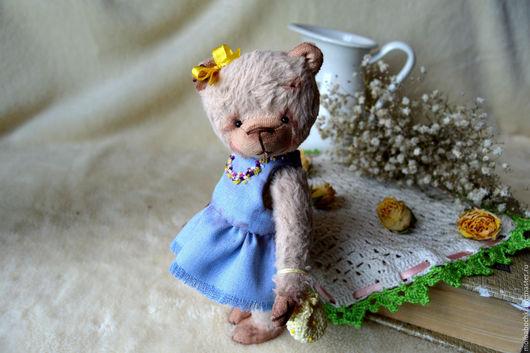 Мишки Тедди ручной работы. Ярмарка Мастеров - ручная работа. Купить Ксюша. Handmade. Комбинированный, мишка в подарок, джинса