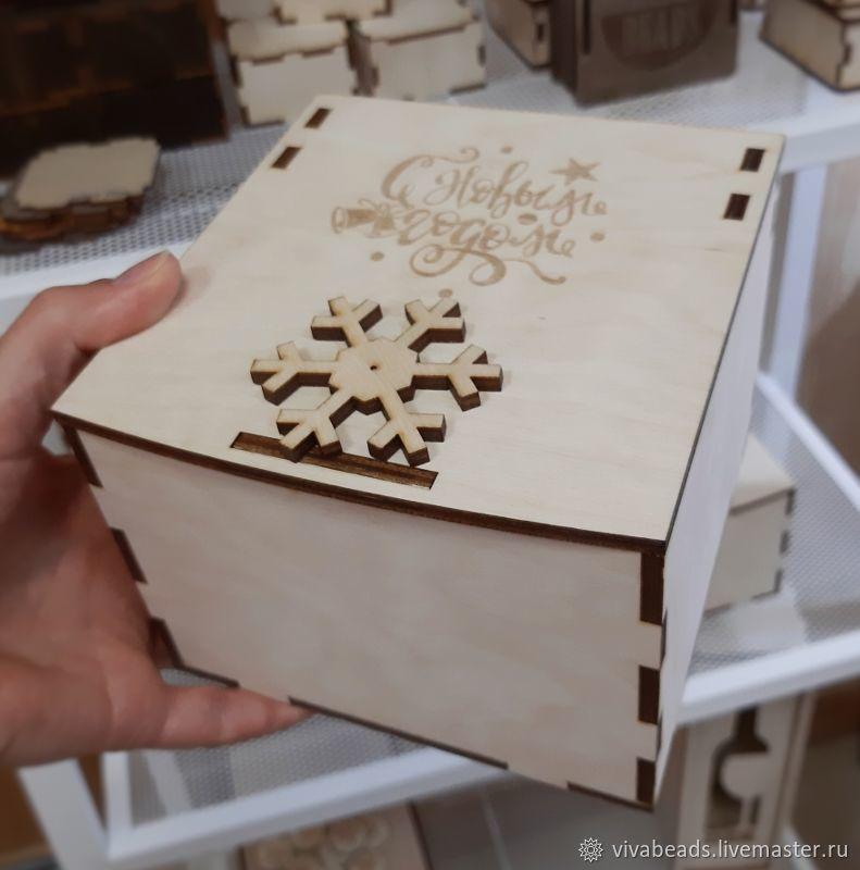 Box for Christmas gift 12h12h9 cm (inside) (K020), Box1, Voronezh,  Фото №1