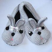 """Обувь ручной работы. Ярмарка Мастеров - ручная работа Тапочки """"Зайчики"""". Handmade."""
