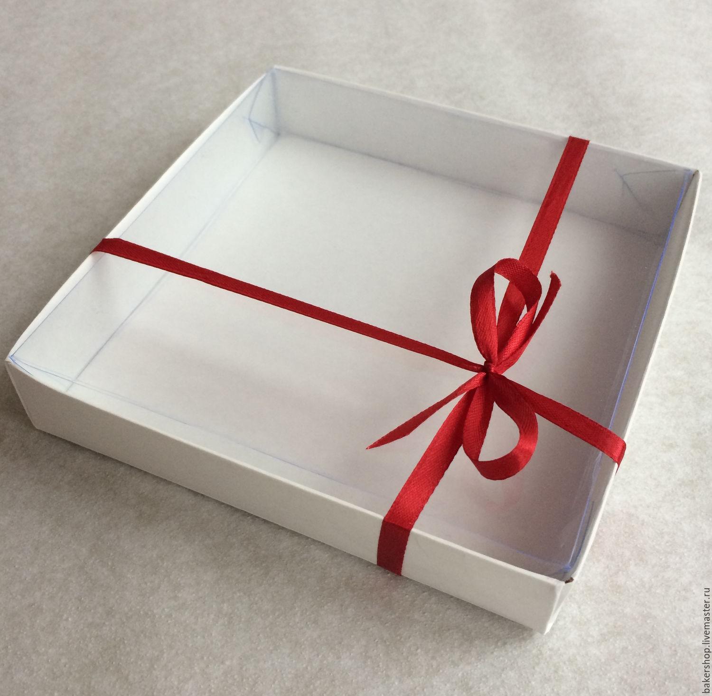 Коробка для пряников с прозрачной крышкой