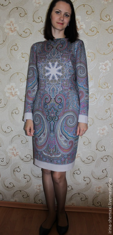 Платья ручной работы. Ярмарка Мастеров - ручная работа. Купить Платье из шали  Драгоценная. Handmade. Голубой, нарядное платье