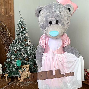 Дизайн и реклама ручной работы. Ярмарка Мастеров - ручная работа Ростовая кукла мишка Тедди в платье с сердцем. Handmade.