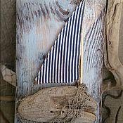 Для дома и интерьера ручной работы. Ярмарка Мастеров - ручная работа Панно. Старая шхуна.. Handmade.