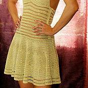 """Одежда ручной работы. Ярмарка Мастеров - ручная работа Пляжное платье """"Бледное золото"""". Handmade."""