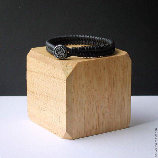 Браслет ручной работы, кожаный браслет, браслет, кожаный браслет женский, кожаный браслет мужской, тонкий кожаный браслет, черный браслет, браслет из кожи, тонкий браслет