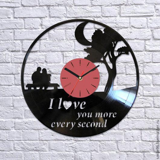 """Часы для дома ручной работы. Ярмарка Мастеров - ручная работа. Купить Часы из пластинки """"Дерево любви 2"""". Handmade. Комбинированный"""