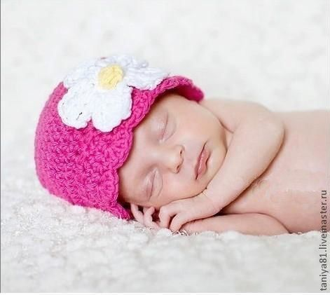 Для новорожденных, ручной работы. Ярмарка Мастеров - ручная работа. Купить Шапочка для фотосессии. Handmade. Шапка, шапка для девочки