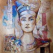 """Картины ручной работы. Ярмарка Мастеров - ручная работа Картина """"Нефертити"""". Handmade."""