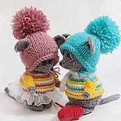 Мягкие игрушки ручной работы. Ярмарка Мастеров - ручная работа Вязаные игрушки Мышата. Handmade.