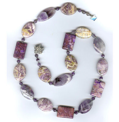 Necklaces & Beads handmade. Livemaster - handmade. Buy Beads with charoite and amethyst.Beads with purple stones