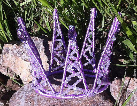 """Диадемы, обручи ручной работы. Ярмарка Мастеров - ручная работа. Купить Корона """"Фея Сирени"""". Handmade. Сиреневый, корона для принцессы"""