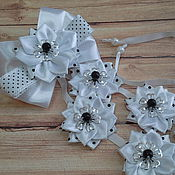 Работы для детей, handmade. Livemaster - original item Ribbon in a braid for school polka dot. Handmade.