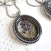 Украшения handmade. Livemaster - original item Transparent Pendant Locket Living Memory Locket Lavender Provence 2. Handmade.
