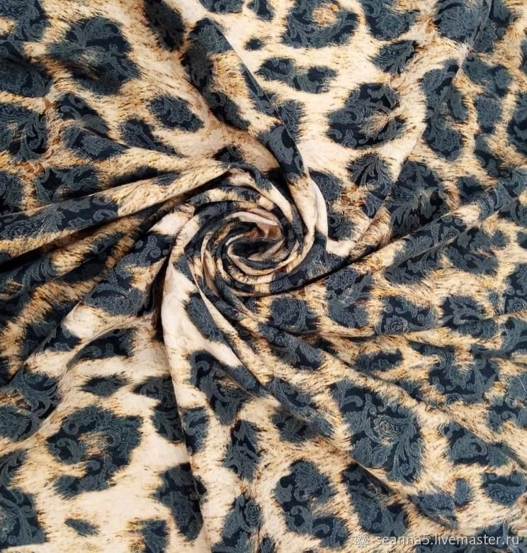 Жаккард с авторским принтом Леопард, Ткани, Воронеж,  Фото №1