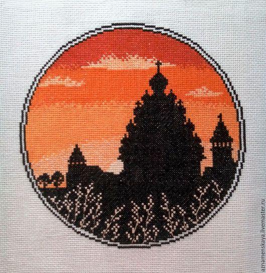 """Город ручной работы. Ярмарка Мастеров - ручная работа. Купить Вышивка крестом """"Кижи"""". Handmade. Рыжий, подарок женщине"""