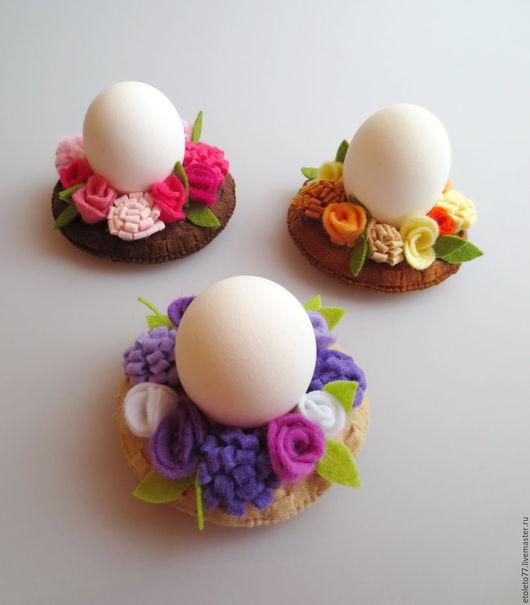 Подарки на Пасху ручной работы. Ярмарка Мастеров - ручная работа. Купить Подставка для пасхальных яиц. Handmade. Комбинированный, пасхальный декор