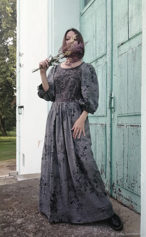 """Льняное платье """"Песня лета"""" длинное, Платья, Барановичи,  Фото №1"""