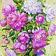Oil painting peonies - buy a vivid picture of the Shiryaevo Natalia