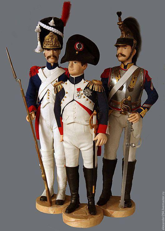 Статуэтки ручной работы. Ярмарка Мастеров - ручная работа. Купить Французская гвардия. Handmade. Гвардия, бонапарт, кирасир, шляпа, ружье