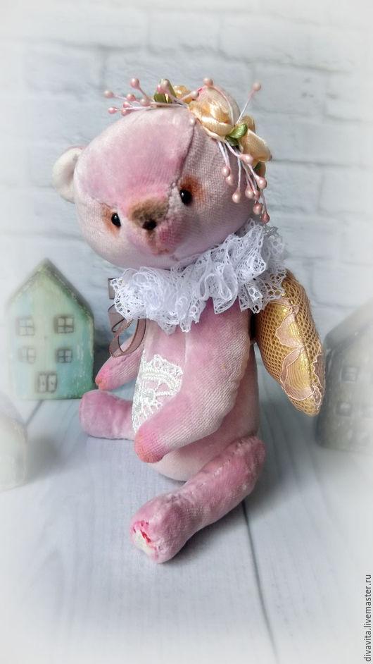 Мишки Тедди ручной работы. Ярмарка Мастеров - ручная работа. Купить Небожитель Pink Angel. Handmade. Розовый, ангел, подарок