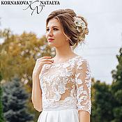 Свадебный салон handmade. Livemaster - original item Wedding crop top and skirt. Handmade.