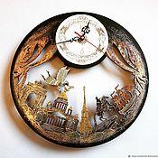 Для дома и интерьера handmade. Livemaster - original item Clock wall city St. Petersburg. Handmade.