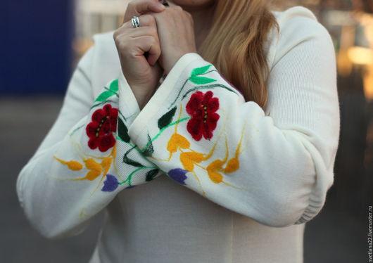 """Платья ручной работы. Ярмарка Мастеров - ручная работа. Купить Нарядное платье """"Июльская полянка-2"""". Handmade. Белый, вышивка"""