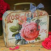 """Сумки и аксессуары ручной работы. Ярмарка Мастеров - ручная работа Чемоданчик """"Rose Garden"""". Handmade."""